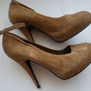 ALDO SUEDE ankle strap pumps